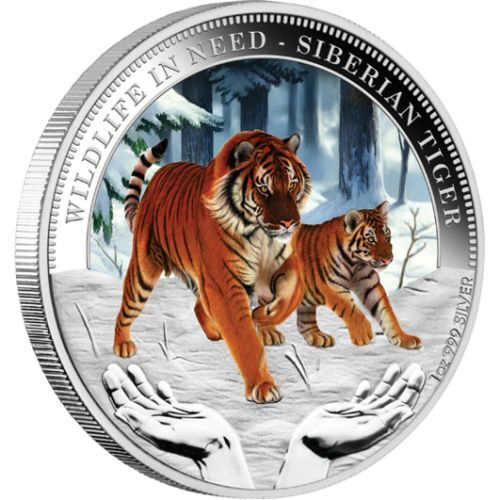 2012 Siberian Tiger 1oz Silver Proof Coin
