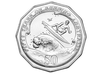 2013 - 50th Anniversary of Surfing Fifty Cents