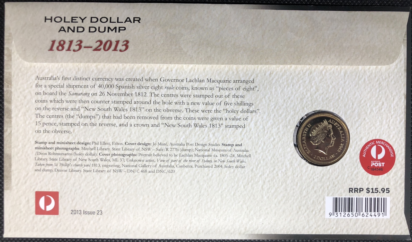 2013 PNC Holey Dollar and Dump (C mintmark)