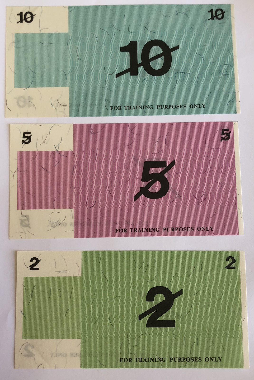 Decimal Currency Test notes
