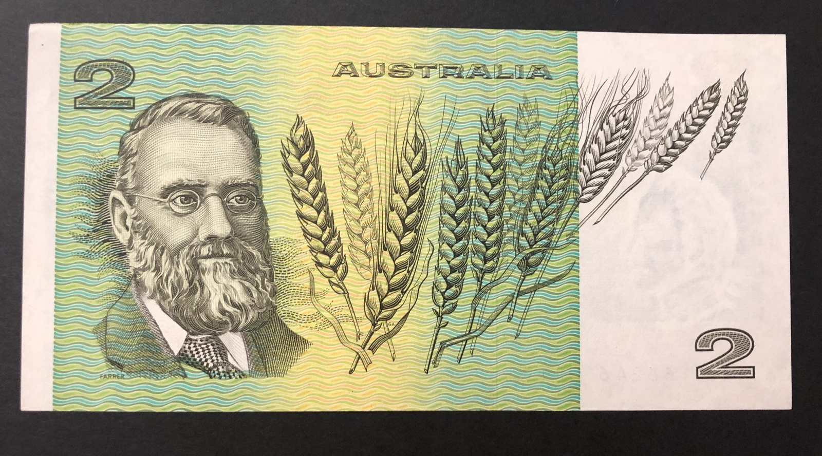 1976 - $2 Knight/Wheeler Banknote OCRB Centre