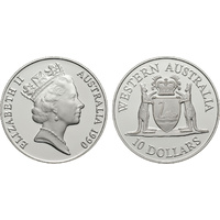1990 $10 Western Australia Silver State Series