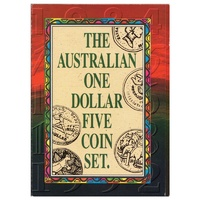 1984 - 92 The Australian One Dollar 5 Coin set