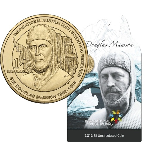 2012 - Sir Douglas Mawson One Dollar
